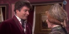 "Well, this was an adorable throwback. On Tuesday, Jimmy Fallon and guest Carol Burnett showed ""clips"" from their '90s soap opera, ""Tensions,"" and Fallon went full Harvey Korman, cracking a smile almost every time Burnett glowered ..."