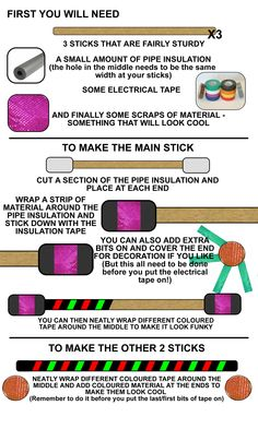 make your own Devil Sticks (the juggling sticks!)