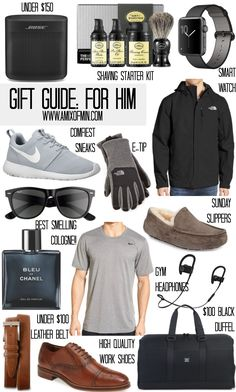 A mix of Min puts together the ultimate holiday christmas gift guide for him.
