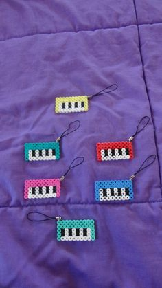 Perler Bead Mini Keyboard Phone Straps Please by cutiecrafts4u, $3.00