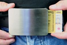 Smart Belt Buckle Wallet for ID and Credit Cards