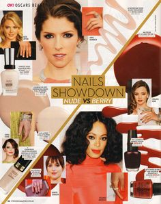 OK Magazine choses our RGB 5 Free Nail Polish in Garnet as one of the best 'berry' coloured nail polishes. Available at Nourished Life