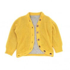 yellow cashmere baby knit cardigan 56,00 € | smallable