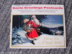 VINTAGE 1988 14 Different Antique Victorian Styled Christmas Post Cards NOS