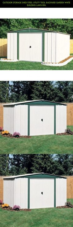 Outdoor Storage Shed Steel Utility Tool Backyard Garden White Building Lawn 8x6 #parts #shopping #8x6 #drone #sheds #fpv #storage #products #gadgets #& #tech #camera #technology #outdoor #racing #kit #plans