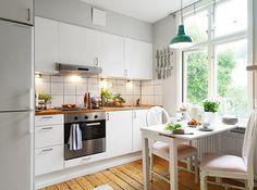 mini piso con mucho encanto small kitchen - Small Kitchen Dining Ideas