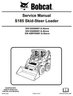 bobcat skid steer 741 742 742b 743 743b workshop service manual rh pinterest com Bobcat 743B Parts Diagram PDF Bobcat 743B Specs