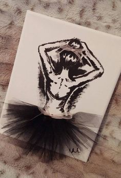 Hand painted ballerina canvas art at natalie l designs!
