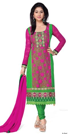 Exclusive Pink Coloured Georgette Semi Stitched Salwar Kamee - http://member.bulkmart.in/product/exclusive-pink-coloured-georgette-semi-stitched-salwar-kamee-2/