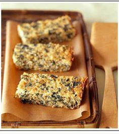 Pastel de espinaca y quinoa - comida sana