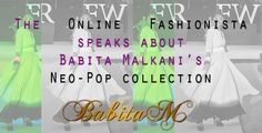 The Online Fashionista is loving the Neo-Pop collection by Babita Malkani. Check out: http://ht.ly/lhmZ0