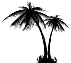 Palm trees Royalty Free Stock Vector Art Illustration..would like as s tat on my side