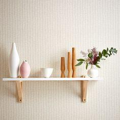 Retro Wallpaper Scion Tocca - Lohko Collection - Luxury By Nature Tile Wallpaper, Retro Wallpaper, Fabric Wallpaper, Pattern Wallpaper, Scion Fabric, Geometric Designs, Soft Colors, Beige, Ideas