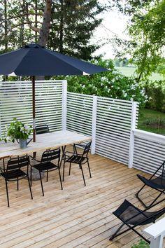 New deck, new terrace. Small Space Interior Design, Interior Design Living Room, Outdoor Spaces, Outdoor Living, Outdoor Decor, Deck Design, Garden Design, Decks Around Pools, New Deck