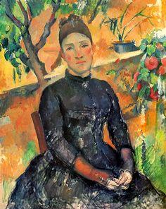 Поль Сезанн: Portrait of a woman4