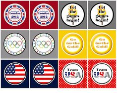 not specific for 2014, but some cute printables you can still use for TEAM USA!  Olympic printable