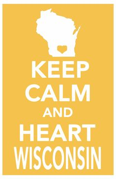 keep calm print wisconsin art poster all 50 states in custom background colors 11x17. $14.99, via Etsy.