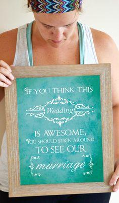 Wedding Quote Art Print Wedding Table Decor by SmartyPantsStudio, $21.00