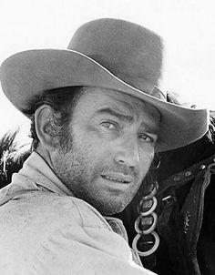 ~ Actor James Drury of The Virginian, one of my all time fav TV westerns. Just love a five o'clock shadow! ~