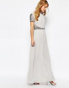 Image 4 ofMaya Cap Sleeve Maxi Dress with Embellished Waist Detail