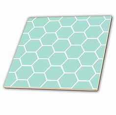 3dRose ct_120225_1 Mint Honeycomb Pattern Pastel Aqua Blue Hexagons Light Teal Turquoise Bee Hive Hexagonal Design Ceramic Tile, 4-Inch 3dRose http://www.amazon.co.uk/dp/B00KG5VGFM/ref=cm_sw_r_pi_dp_Aw0Rwb11ZZ311