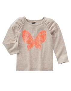 Sparkle Floral Butterfly Tee 4Y