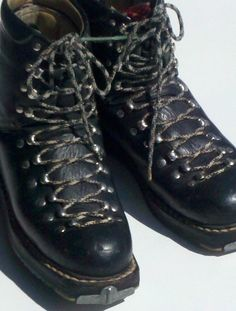 Image result for Lace up leather ski boots