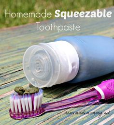 Homemade Squeezable Toothpaste -- similar to Earthpaste ingredients with clay, I would skip the baking soda though