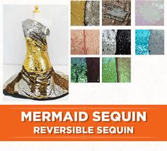 Mermaid Sequin Reversible Sequin Dragon Scale Sequin Fabric by the Yard
