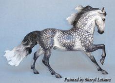 breyer horses andalousain | Breyer AndalusianDark Dapple Grey