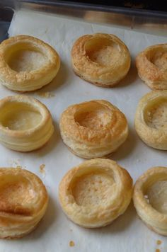 How to make easy puff pastry shells for appetizers using a sheet of frozen puff pastry. Perfect for party bites and desserts.