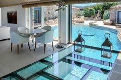Occupants and guests can swim underneath the stunning Villa Amoras, on the Mediterranean i...