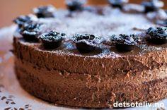 Dobbel sjokolademoussekake | Det søte liv Pudding Desserts, Cookie Desserts, Chocolate Mousse Cake, Dere, Marzipan, Popsicles, Cheesecake, Cookies, Baking