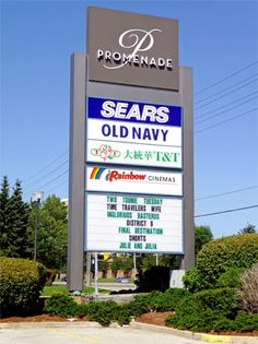 pylon signs for shopping centers | Excellent Signs and Displays