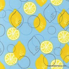 Metro Market Lemons Sky by Robert Kaufman Fabrics fruit cotton novelty fabric Textile Patterns, Print Patterns, Textiles, Pattern Design, Print Design, Food Illustrations, Surface Pattern, Geometric Shapes, Projects To Try