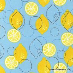 Metro Market Lemons Sky by Robert Kaufman Fabrics AMN-11267-63