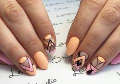 Bright summer nails, Cool nails, Fun summer nails, Geometric nails, Interesting nails, Original nails, Resort nails, Summer nail art