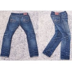 """Southeast Asian fader, ""nong33"", strikes again with another pair of well-aged ""   #denim #jeans #fade #rugged #indigo #menswear #fashion #mode #style"