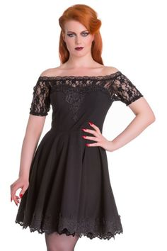 b37beceb7a0e6 Amara Lace Black Gothic Dress by Hell Bunny Mode Gothique, Robe Été, Robe  Noire