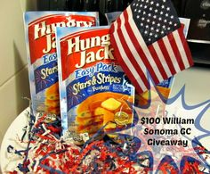Celebrate the 4th of July with Hungry Jack Stars & Stripes Funfetti Pancakes!