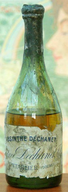 ❥ vintage french absinthe dechanet bottle