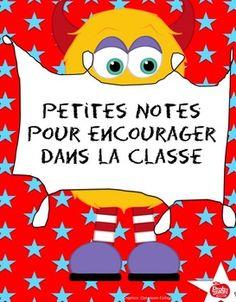 Mots d'encouragements pour la classe//Gratuit//