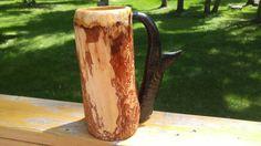 Wooden Beer Mug, Beer Stein, Vase, Etsy Shop, Mugs, Unique Jewelry, Handmade Gifts, Check, Vintage