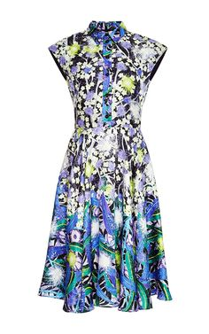 Silk Floral Shirt Dress by Peter Pilotto - Moda Operandi