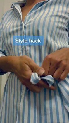 Diy Clothes Life Hacks, Clothing Hacks, Diy Belt For Dresses, Diy Fashion Hacks, Fashion Tips, Kleidung Design, Diy Belts, How To Wear Scarves, Useful Life Hacks