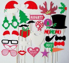 28 piezas navidad accesorios photo booth bigote en un palo labios decoración suministros en Artículos Navideños de Casa y Jardín en AliExpress.com | Alibaba Group