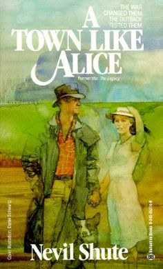 The book relates the experiences of a young Englishwoman as a prisoner in Malaya during the Second World War and her post-war life in a small outback community in Australia, which she sets out to turn into 'a town like Alice' (Alice Springs). Possibly Neville Shute's most famous novel ~ 1950