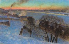 The Athenaeum - Evening in February, Riddarfjärden, Stockholm (Eugene Jansson - )