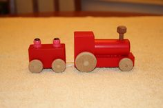 Wooden toy train by DMToys on Etsy