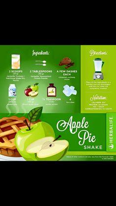 Apple pie Herbalife shake recipe, yum!